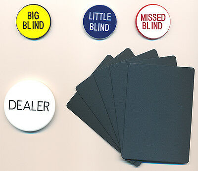Casino Grade Items DEALER BUTTON Set BLIND BUTTONS CUT CARDS Hold'Em POKER SET *