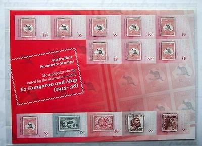 Australia Favourite Stamps Mini Sheet Of Stamps In Folder