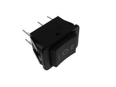 6-Pin 16A 125VAC DPDT Rocker Switch Mom-Off-Mom  Panel Mount Snap-In