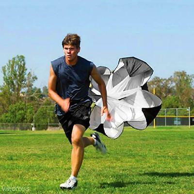 Black Outdoor Power Fitness Training Exercise Parachute Umbrella Track & Field