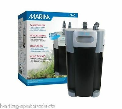 Marina Cf60 External Fish Tank Aquarium Water Filter Filters Media Filtration