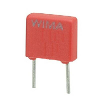 2x Metallised Polyester Capacitor MKS4 Wima 1uF 100V 10mm Pitch 1000000pF 1000nF