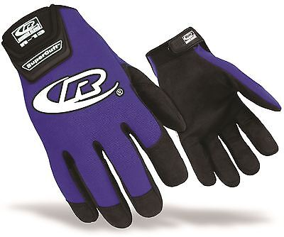 Ringers Authentic R13 Mechanics Pit Crew Work Gloves Size Large Blue
