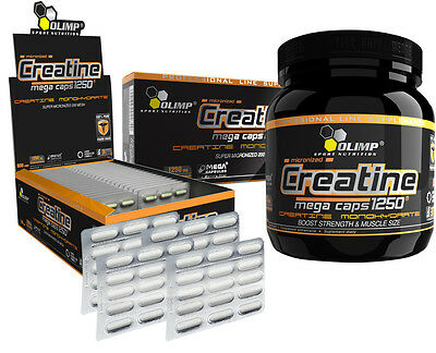OLIMP CREATINE Monohydrate 1250mg THE STRONGEST CREATINE Mega CAPS Free shipping
