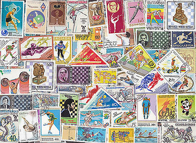 200 All Different Sports & Recreation Stamps