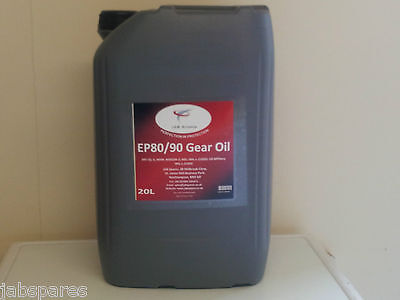 80w/90 EP Gear Oil GL5 Specification 20Ltr