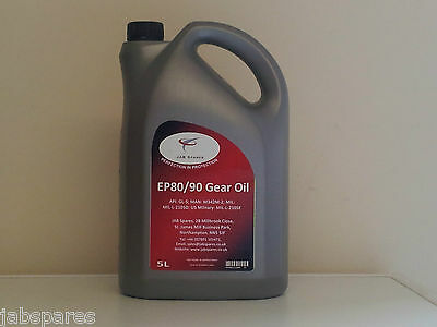 80w/90 EP Gear/Differential Oil GL5 Specification 5Ltr