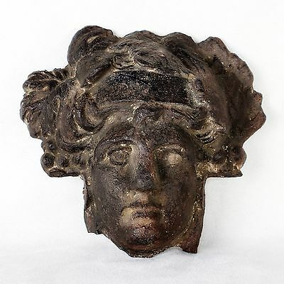 Rare Antique 1st Century AD Roman Bronze Head of Goddess Minerva Statue