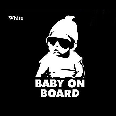 BABY ON BOARD Safety Car Sticker Vinyl Decal Hangover Funny Sign Cute Hot