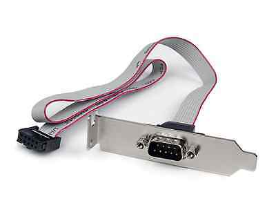 Startech 1 Port 16in DB9 Serial Port Bracket to 10 Pin Header - Low Profile