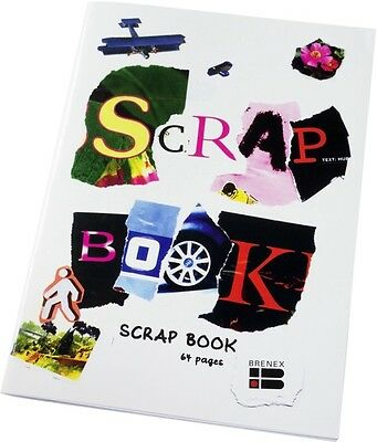 Brenex ~ SCRAP BOOK ~ 100gsm Quality Paper Kids Art ~ Pack x 5 Books ~ 64 Pages