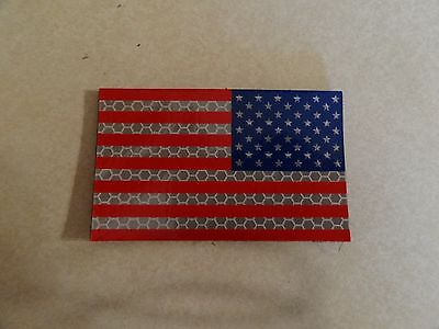 Patch Military Us American Flag Reverse Facing Shoulder Hook Color Ir Infared