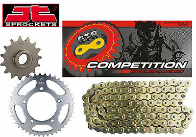 Honda XR125 L JD19 03-07 Gold Heavy Duty Chain and Sprocket Kit Set