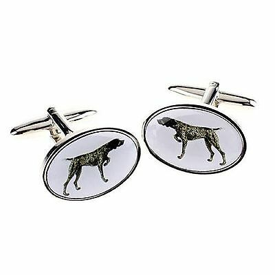 Pointer Cufflinks Stainless Steel Gift Mens Jewellery Boxed Shooting