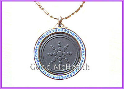 Quantum Scalar Energy Pendant with Steel Chain and magnet Sun Flower Design