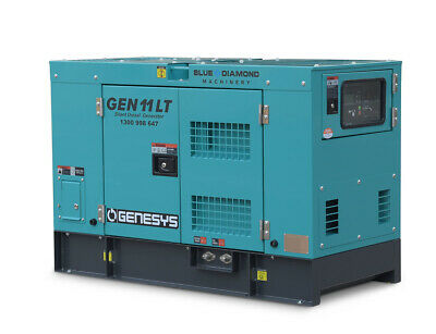 11Kva Generator 415V 3 Phase - 10,000W Prime - 3 Cyl Diesel 1500Rpm Water Cooled