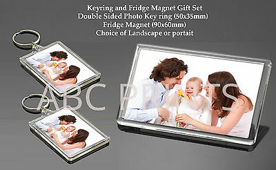 Personalised Photo Fridge Magnet Keyring Gift - Selfie Family *ADD ANY PHOTO*