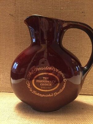The Presidents Choice Kentucky Bourbon Whisky Water Pitcher