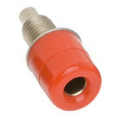 4mm Insulated Banana Test Sockets Red Panel Termination Post Test (Pack of 2)