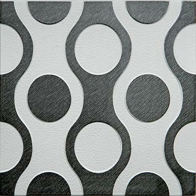 NEW Ceiling Wall Tiles Panels Polystyrene  (Pack of 24) 6 Sqm - SILVER-BLACK