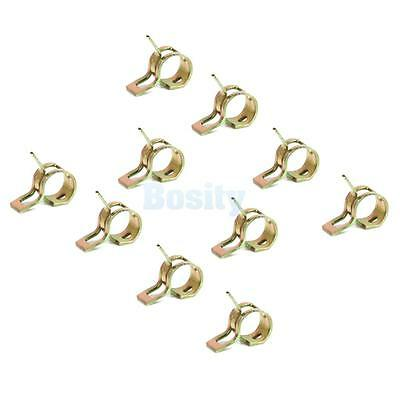 10 x Spring Clip Fuel Hose Line Water Pipe Air Tube Clamps Fastener Diameter 9mm