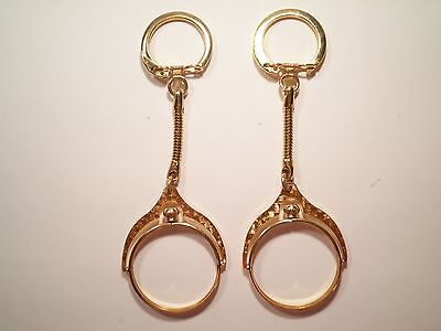 2 Goldplated 32mm Coin Holder Key Chains