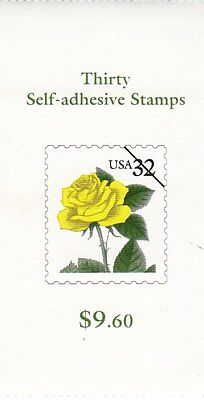UNITED STATES BOOKLET:1996 Yellow Rose self-adhesive-SC #BK242 never hinged mint