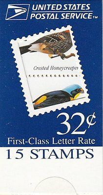 UNITED STATES BOOKLET:1998 Tropical Birds SC #BK272 never hinged mint