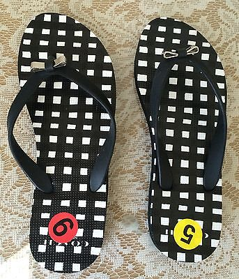 a3a92cebf1f NEW Coach Amel Rubber Sandal flip flop women shoes Q4113 black white flat  thong