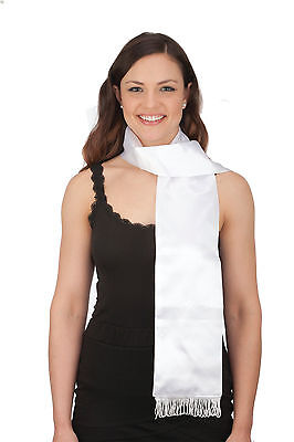 "White Aviator Scarf 72"" Amelia Earhart Scarf 20s Long White Scarf Costume 26077"