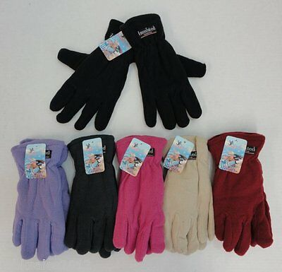 144 Pairs Womens Fleece Gloves Assorted Color Thermal Insulated Winter WHOLESALE