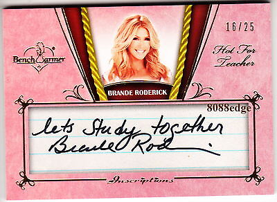 2012 Benchwarmer Teacher Inscription Auto: Brande Roderick #16/25 Autograph 1/1
