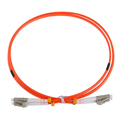 1M Jumper Cable LC To LC Multimode Fiber Optic Optical Patch Cord Duplex Cable