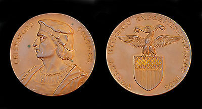 Médaille Wold's Hygienic Exposition Chicago 1893. USA. Cristoforo Colombo. RARE