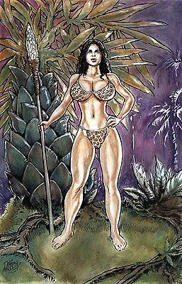 CAVEWOMAN FULL COLOR PINUP from Devon Massey.