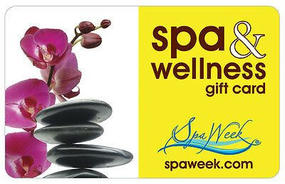 $50 Spa & Wellness Physical Gift Card by Spa Week - 1st Class Mail Delivery