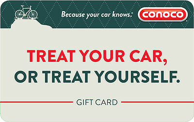 $100 Conoco Gas Physical Gift Card - Standard 1st Class Mail Delivery