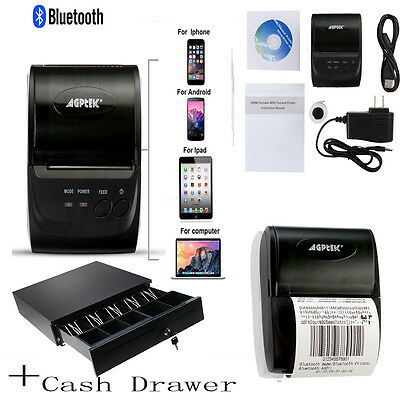 Bluetooth Wireless Pocket Mobile Thermal Receipt Printer for Android IOS New