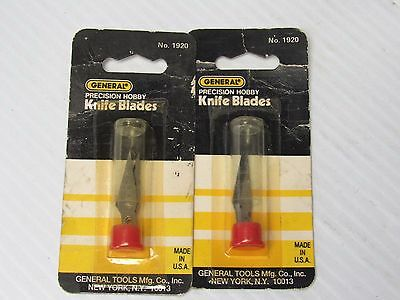 New Lot Of 2 General Precision Hobby Knife Blade No. 1920 For Handle 1901
