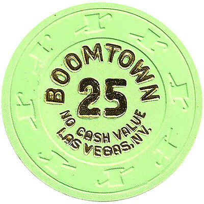 (1) Boomtown 25 NCV Clay Casino Chips Las Vegas Nevada H&C MOLD *
