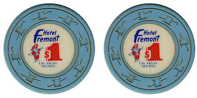 (1) Real Fremont Hotel $1 Clay Casino Chip Las Vegas Nevada FREE SHIPPING*