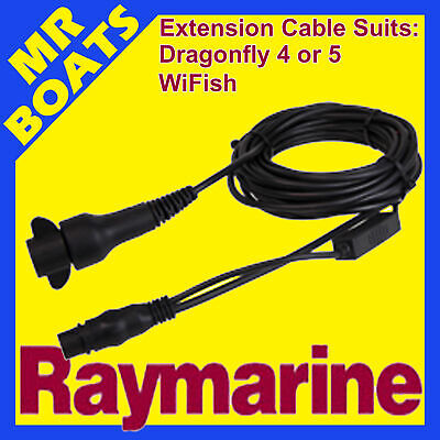 RAYMARINE DRAGONFLY 4, 5, WiFish * TRANSDUCER EXTENSION CABLE * A80312 FREE POST