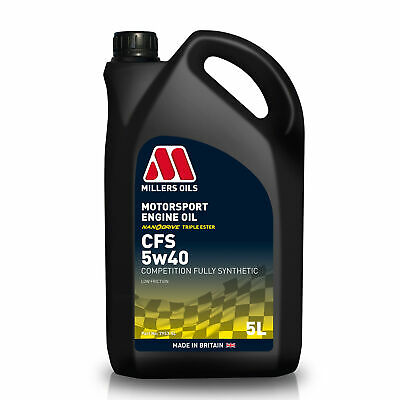Millers Oils 5 Litres Of CFS 5W40 Fully Synthetic Engine Oil - Race / Rally