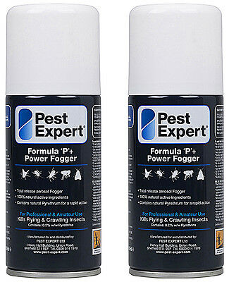 Clothes Moth Killer Insect Formula 'P' Fogger Bomb from Pest Expert® (150ml)