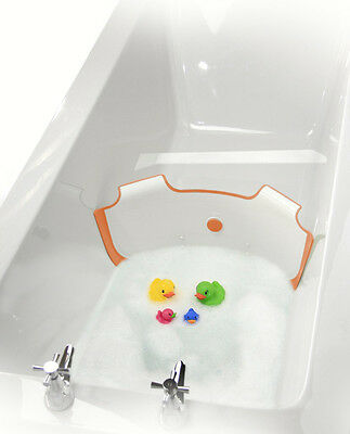 BabyDam Bathwater Barrier NEW Sunburst Orange Eco Friendly Water Saving Device