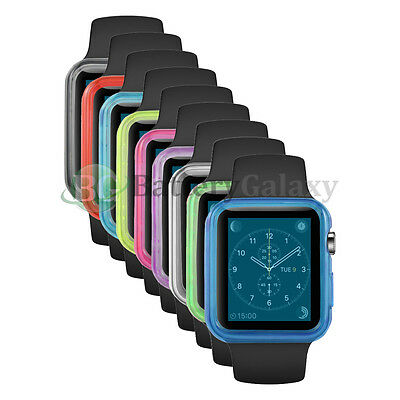 Lot of 10 Transparent TPU Cover Case Gel Skin for Apple iWatch Sport Watch 42mm