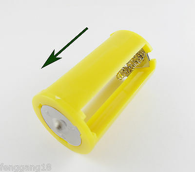 1x 1.5V Parallel Battery Adapter Holder Case Box Convert 3 AA To 1 D Size Yellow