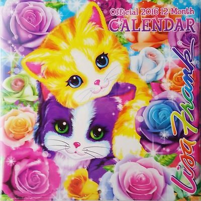 "Lisa Frank 2016 12-Month Wall Calendar. Full Color 10"" X 10""."