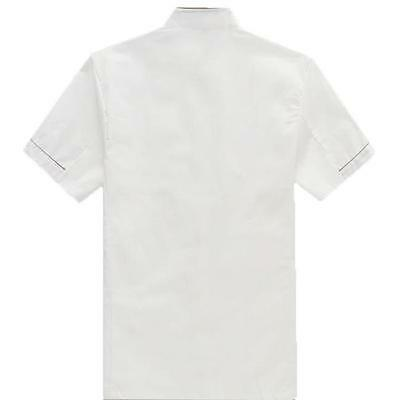 Kitchen Chef Working Uniform Waiter Waitress Short Sleeve Coat Jacket White - 6A