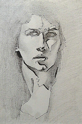 Original Drawing, Life Drawing, A4, Female Ink Portrait Facing Front